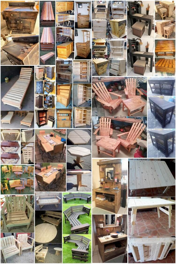 Classic Ideas for Old Scraped Wood Pallets Reusing