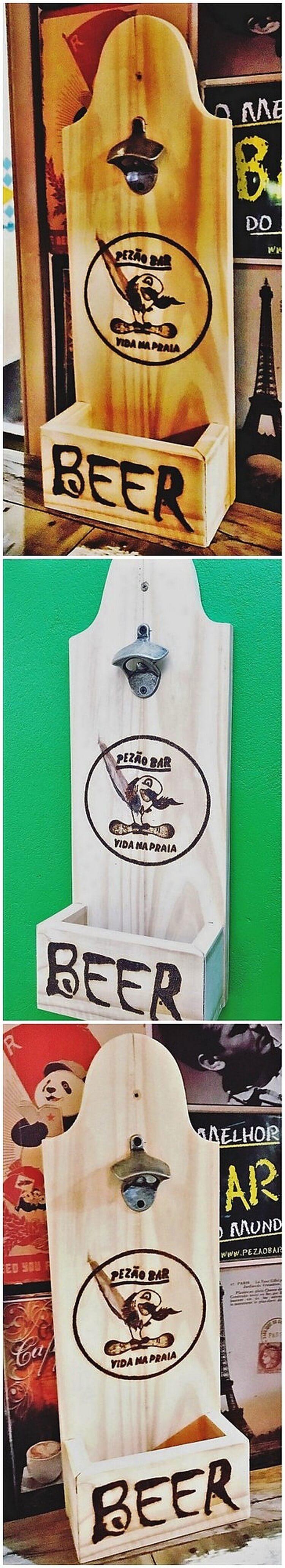 Wood Pallet Bottle Opener