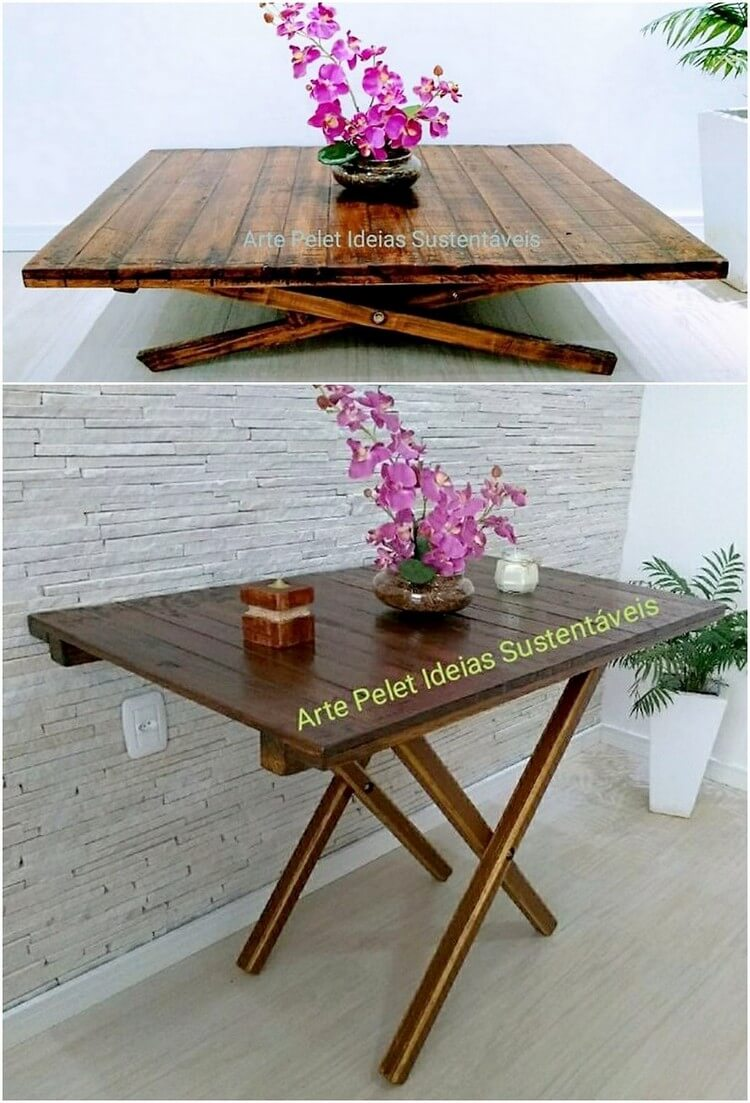 Wood Pallet Folding Table