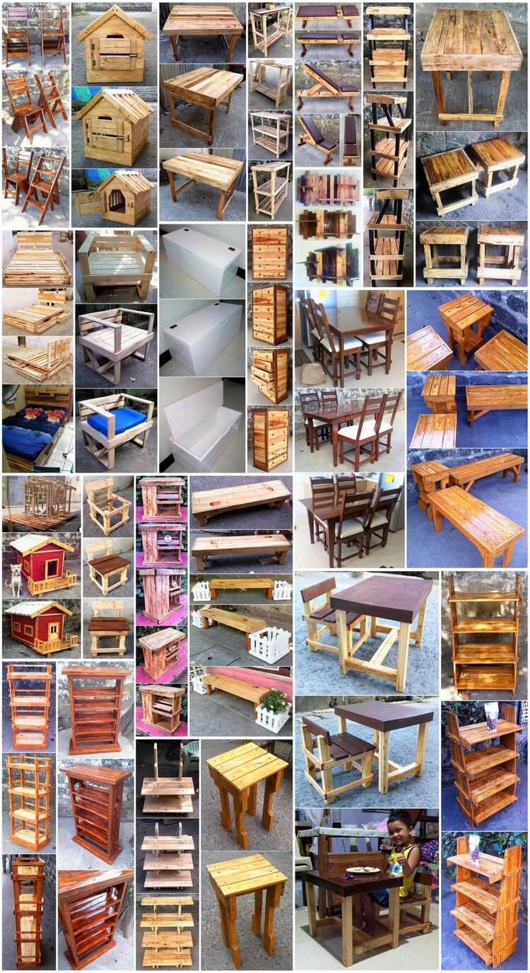 Amazing DIY Creations Made with Recycled Pallets