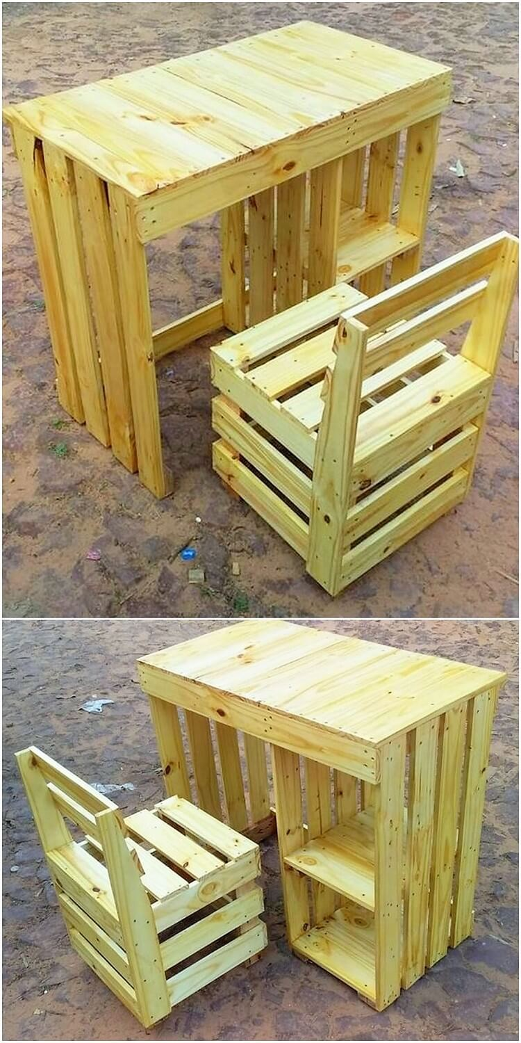 Pallet Chair Table