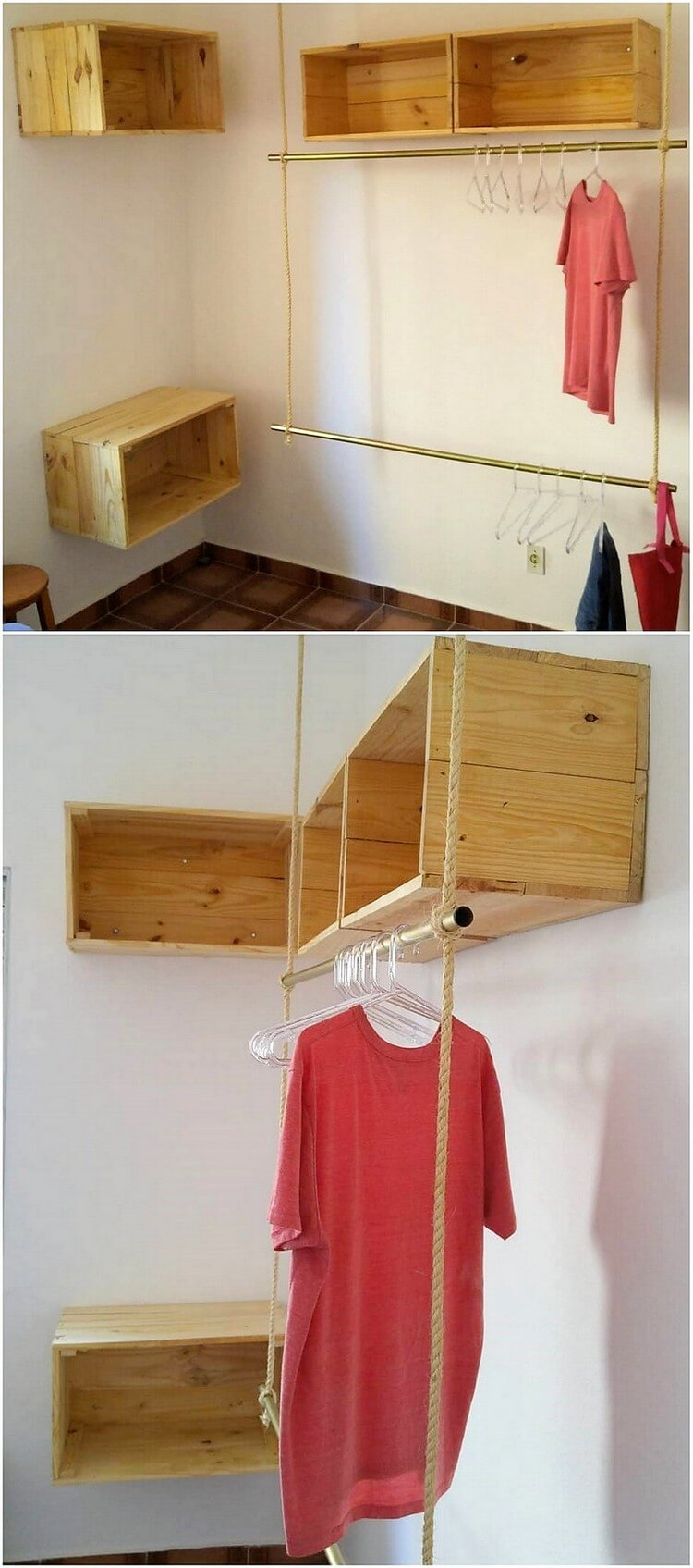 Pallet Clothes Hanging