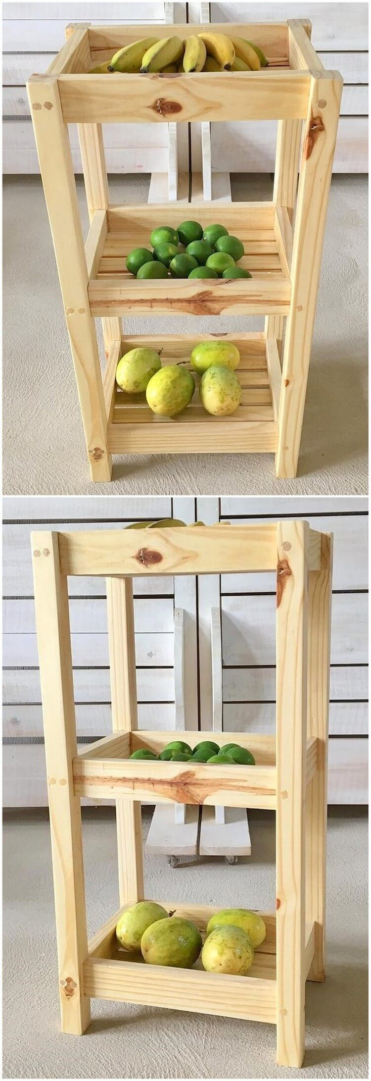 Pallet Fruits and Vegetables Rack