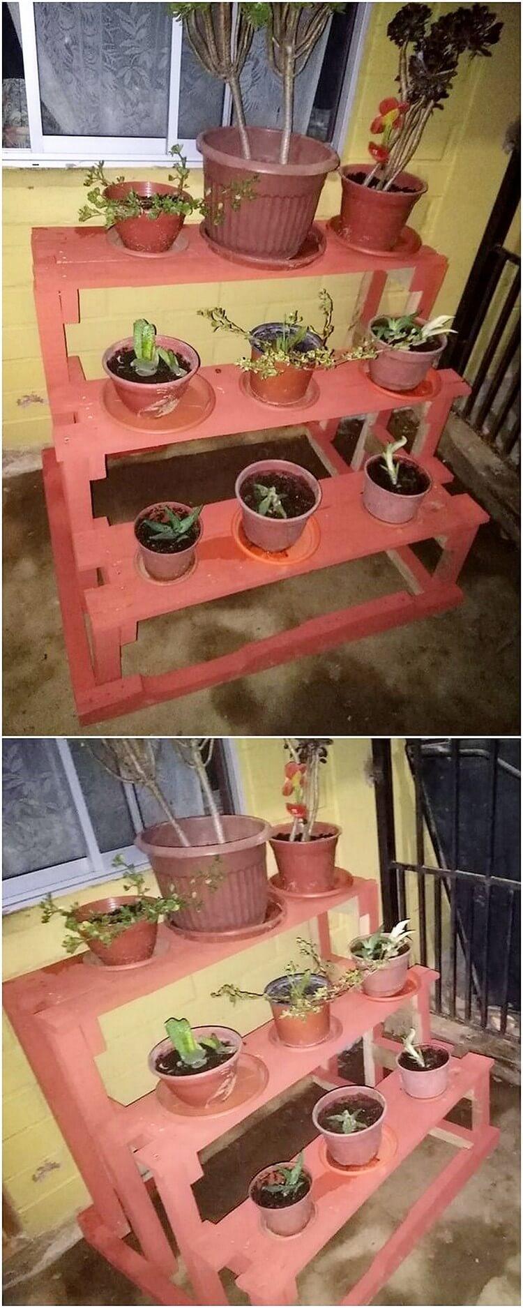 Pallet Potting Stand