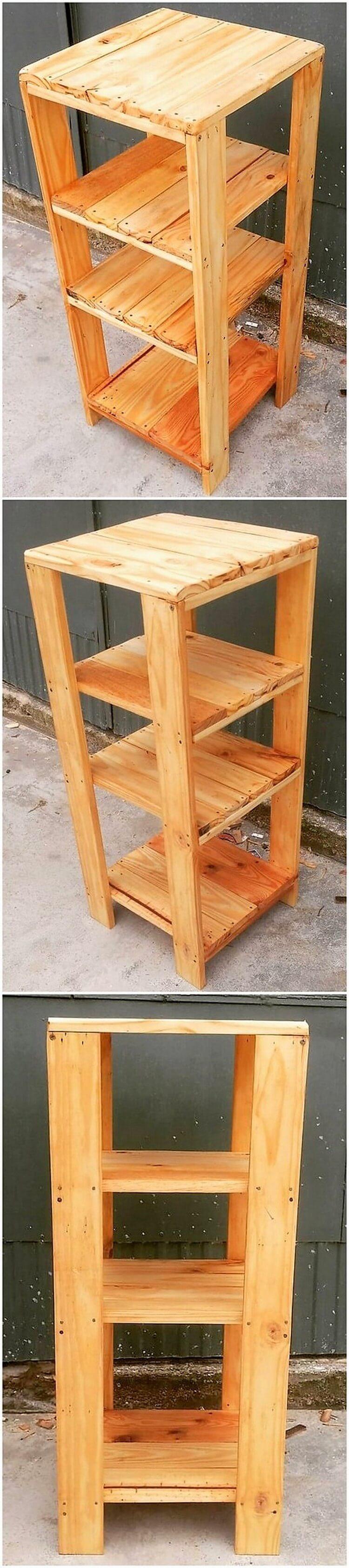 Pallet Shelving Table