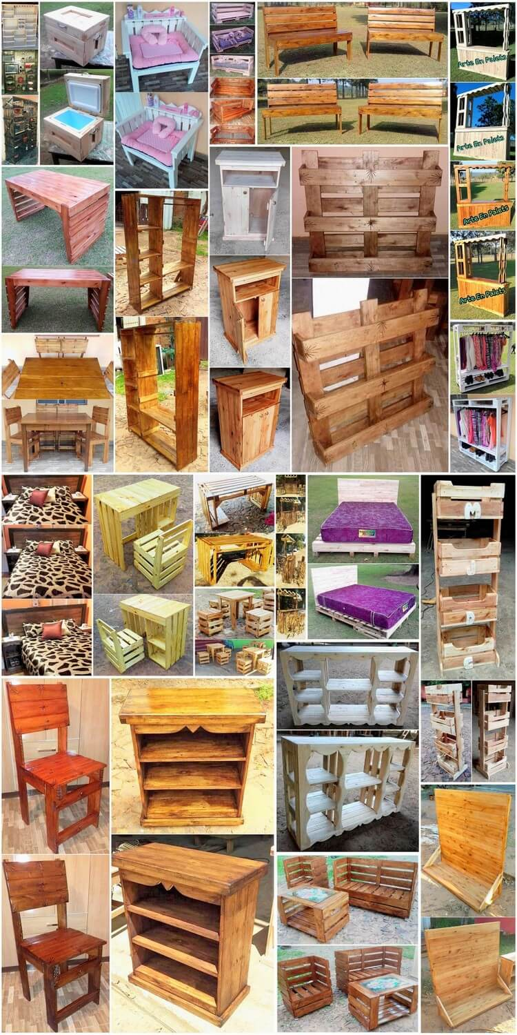 Some Cool Projects with Scraped Wooden Pallets