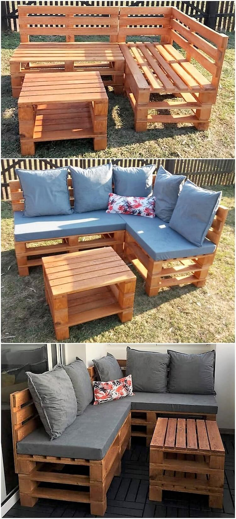 Pallet Couch and Table Design