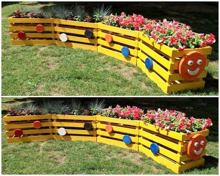 Pallet Train Planter