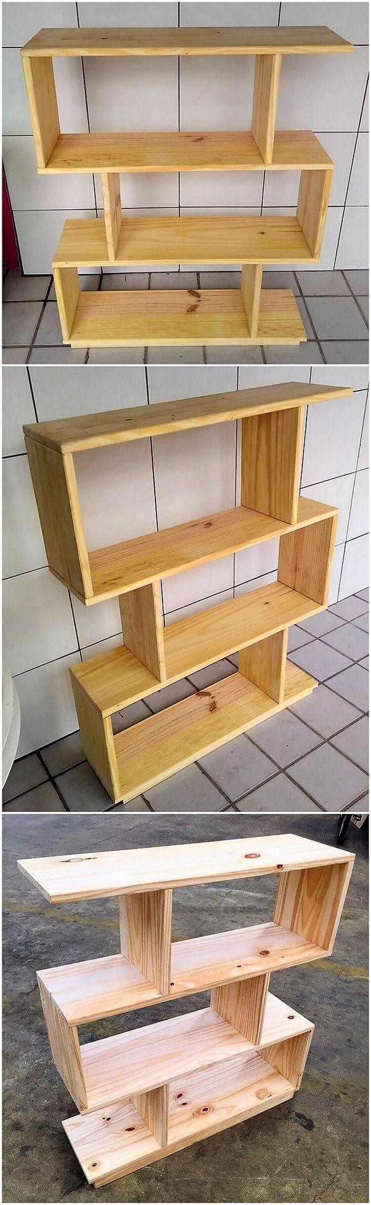 Wood Pallet Shelving Unit