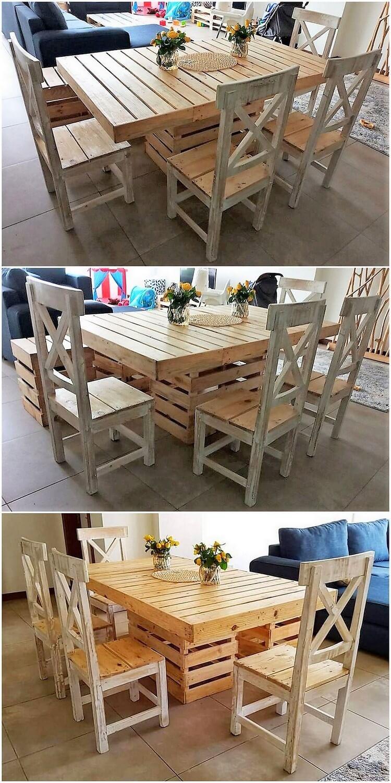 Pallet Dining Furniture Set