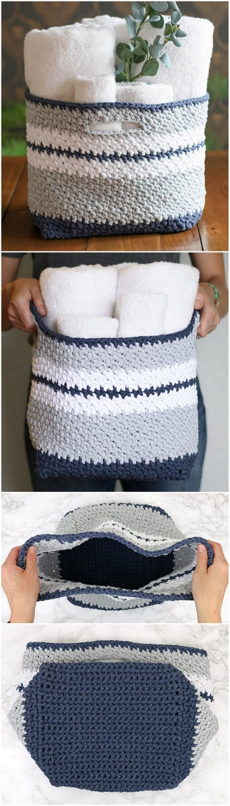 Crochet Basket Pattern (10)