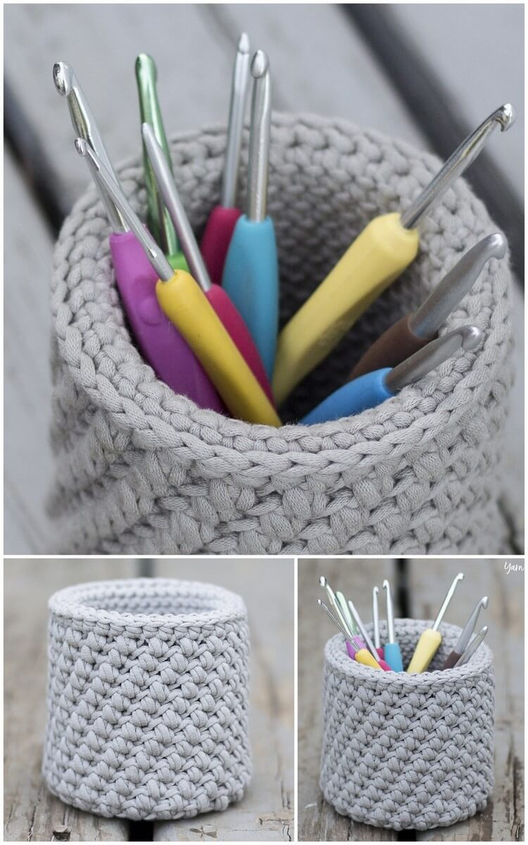 Crochet Basket Pattern (23)
