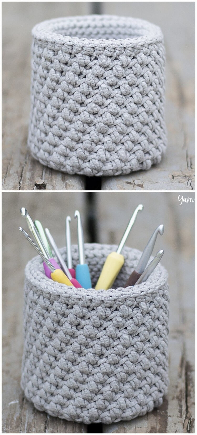 Crochet Basket Pattern (24)