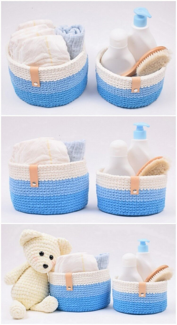 Crochet Basket Pattern (36)
