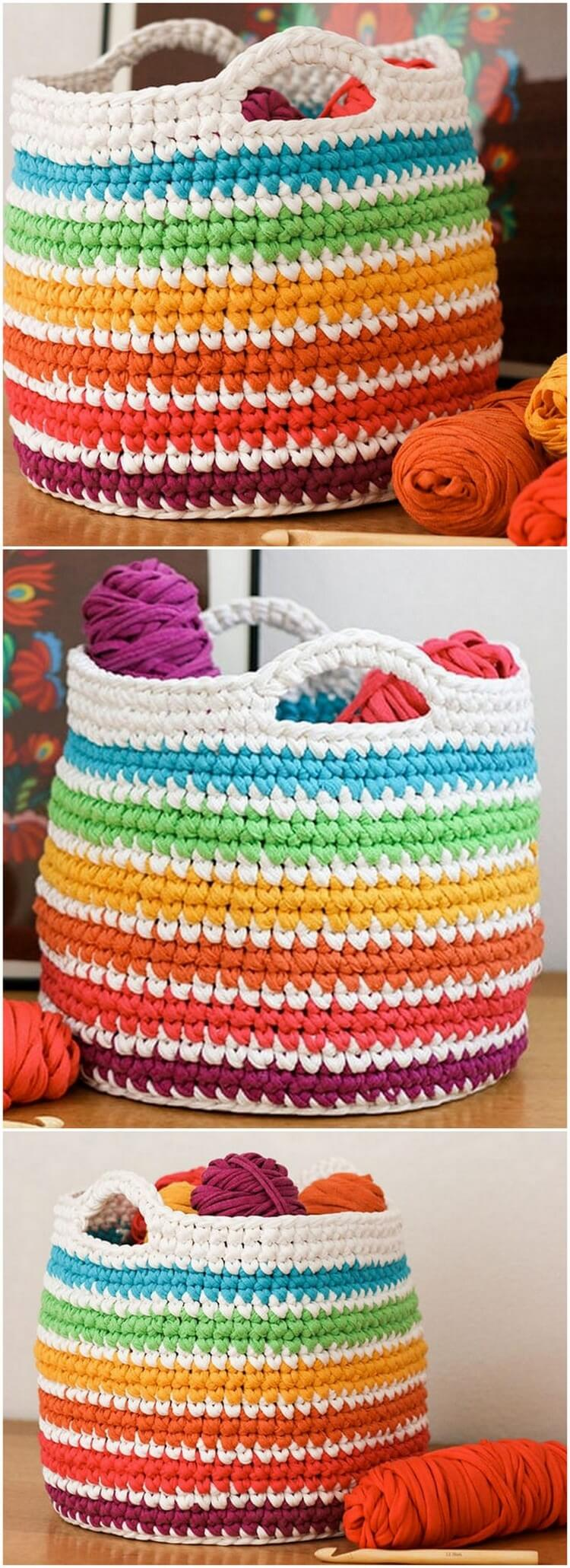 Crochet Basket Pattern (48)