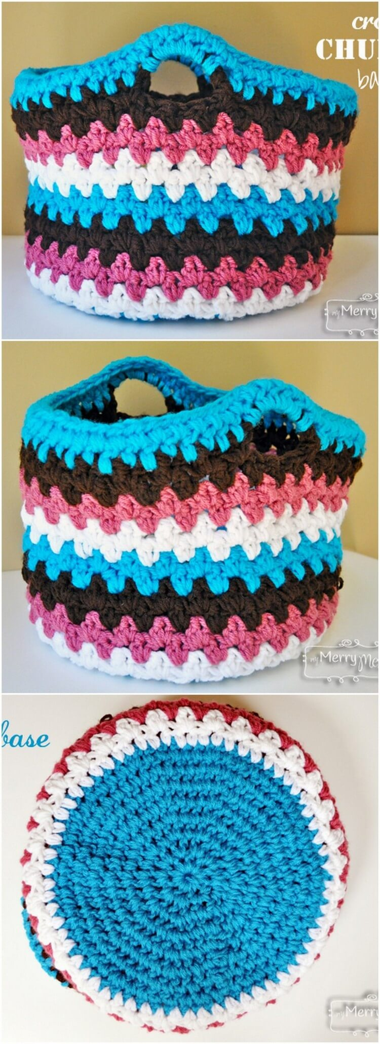 Crochet Basket Pattern (5)