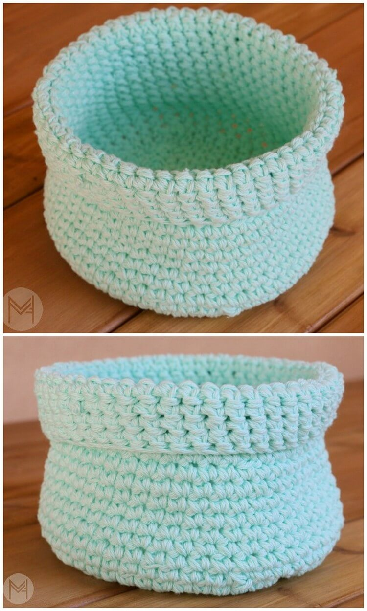Crochet Basket Pattern (7)