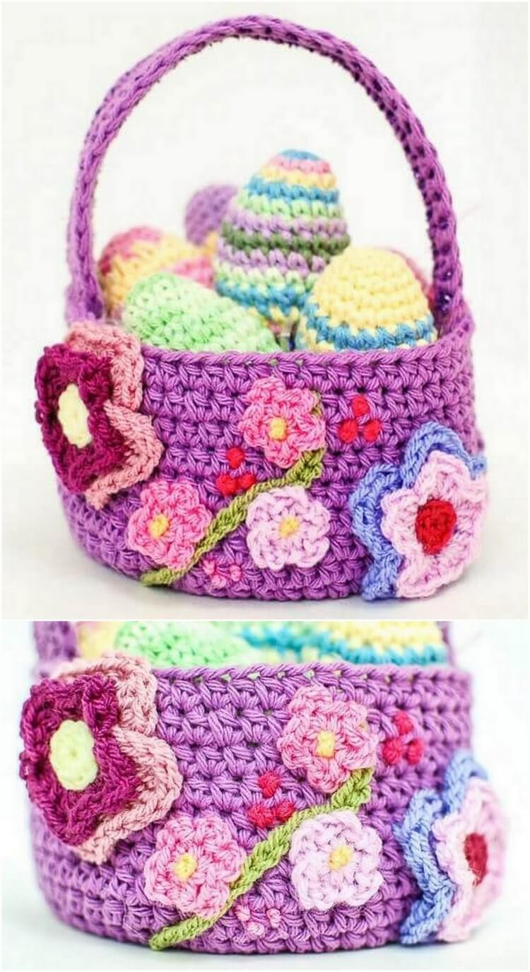 Crochet Basket Pattern (70)