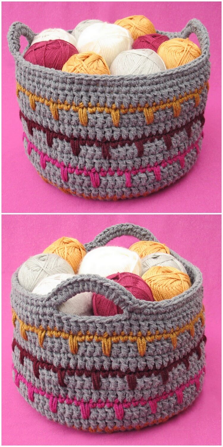 Crochet Basket Pattern (82)