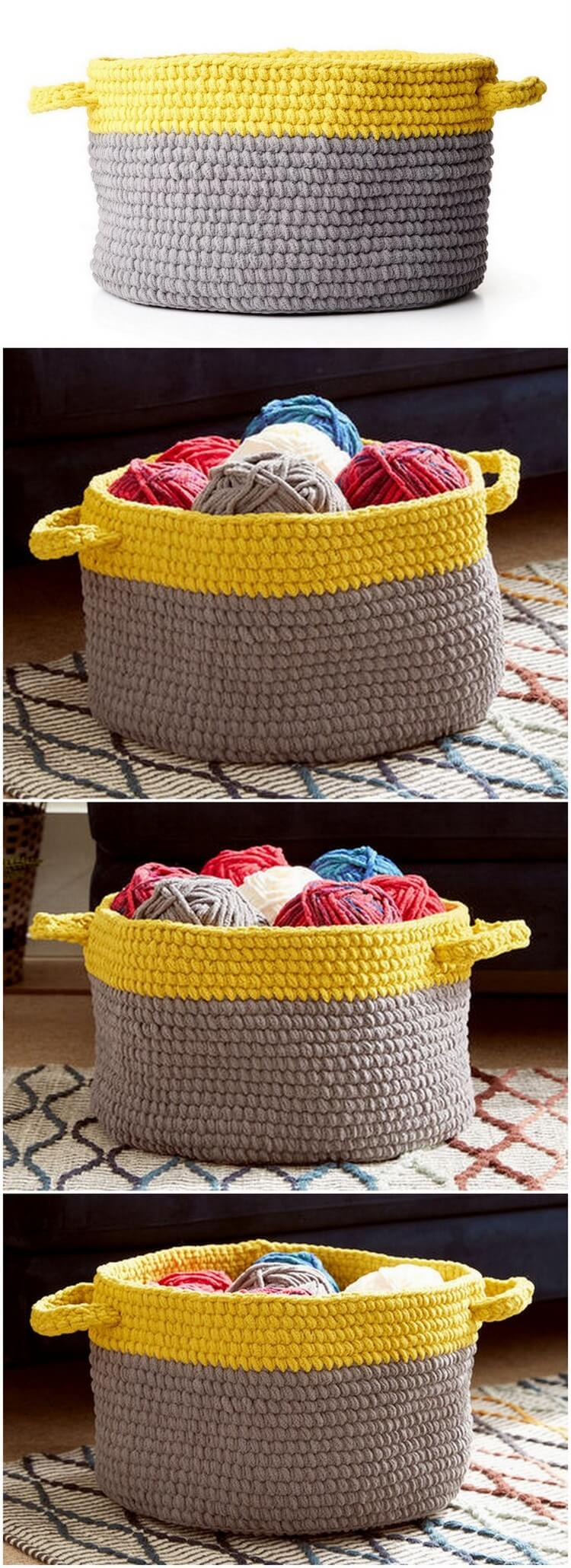 Crochet Basket Pattern (89)