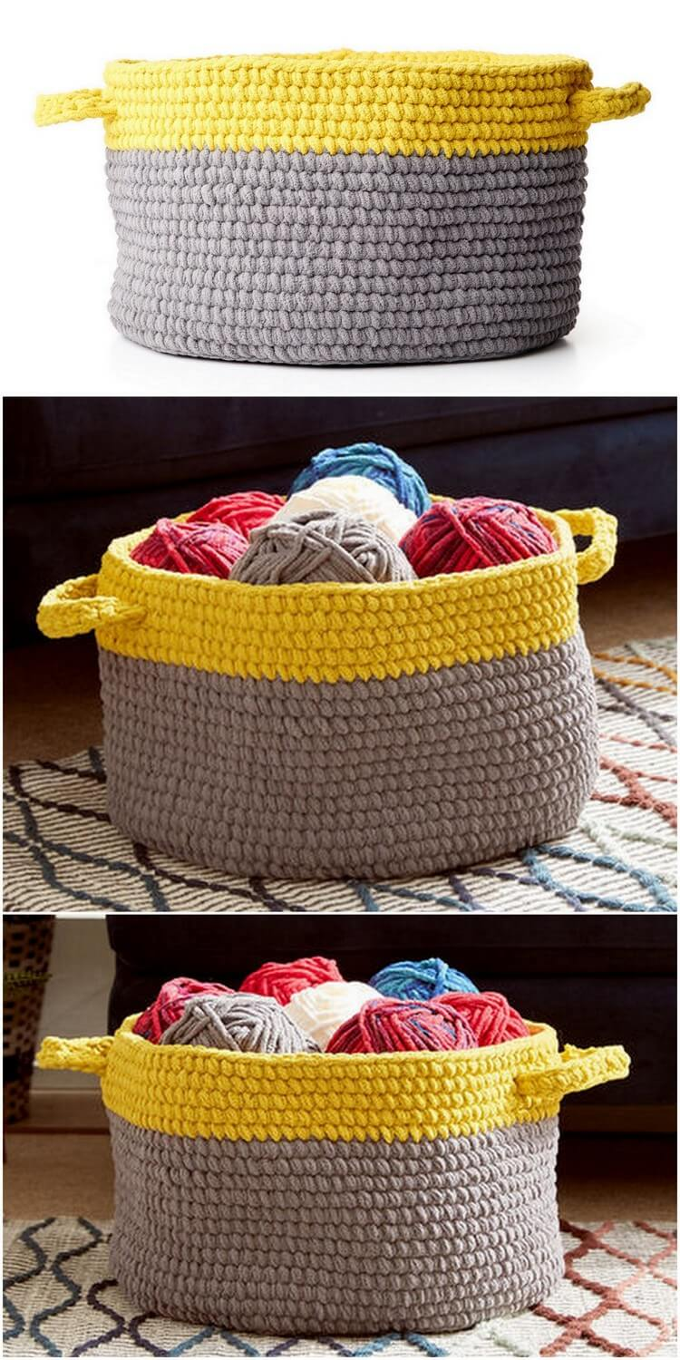 Crochet Basket Pattern (90)
