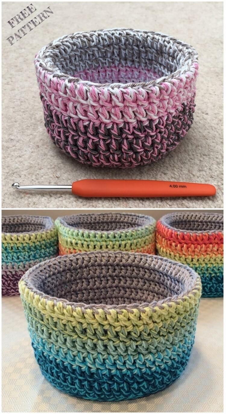 Crochet Basket Pattern (95)
