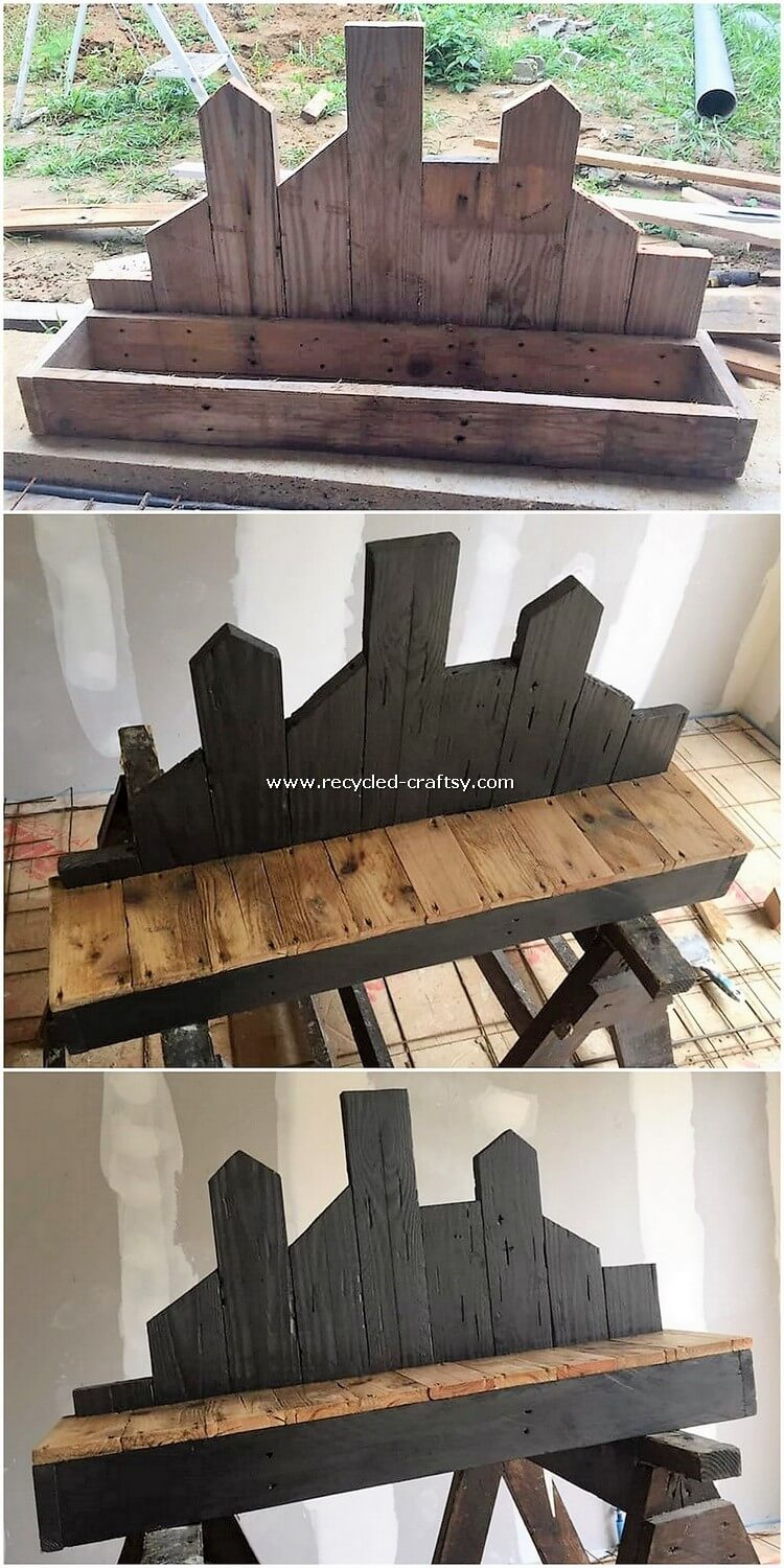 DIY Pallet Shelf
