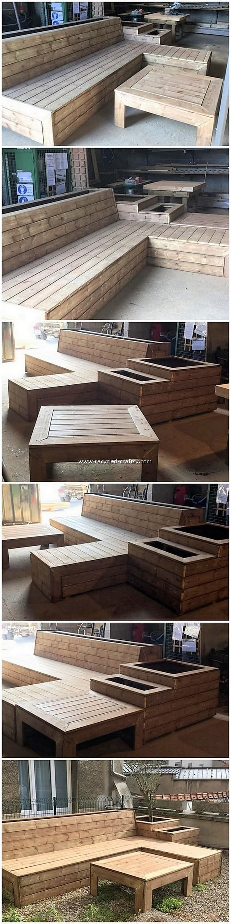Pallet Bench and Outdoor Table