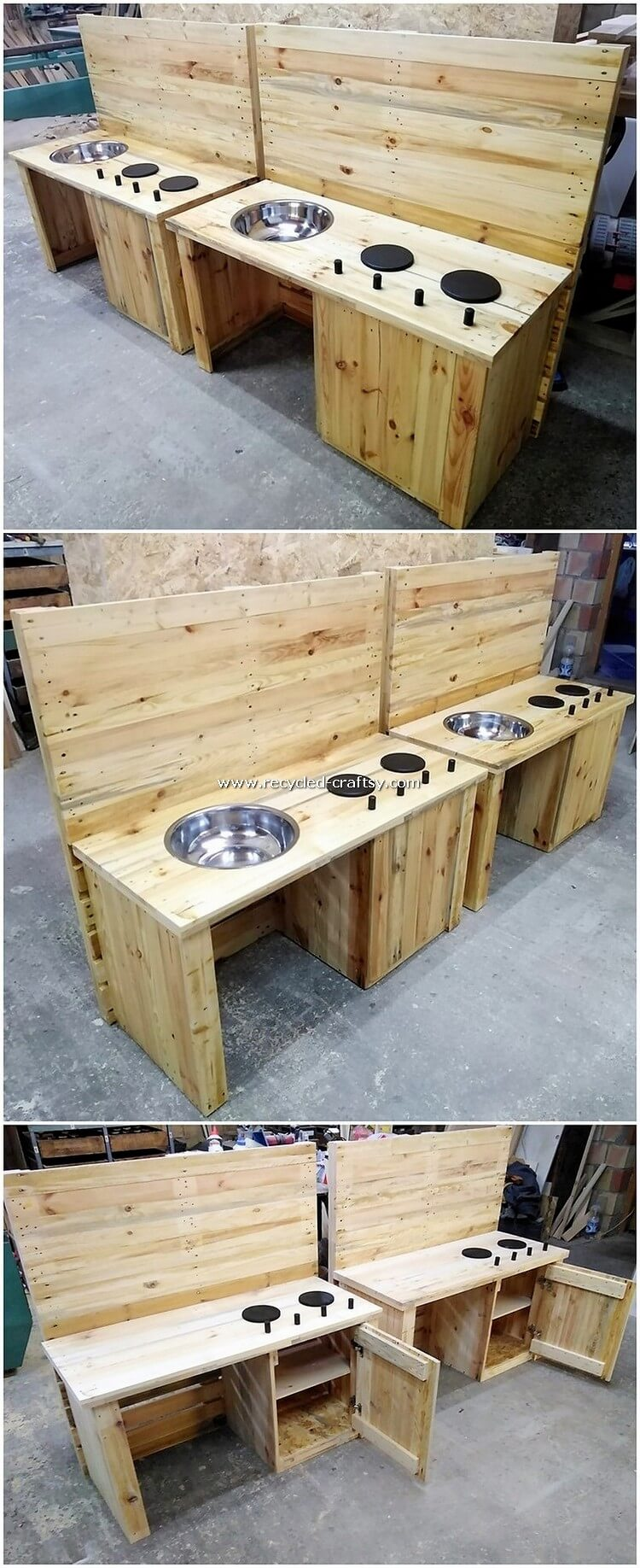 Pallet Kitchen Island Tables