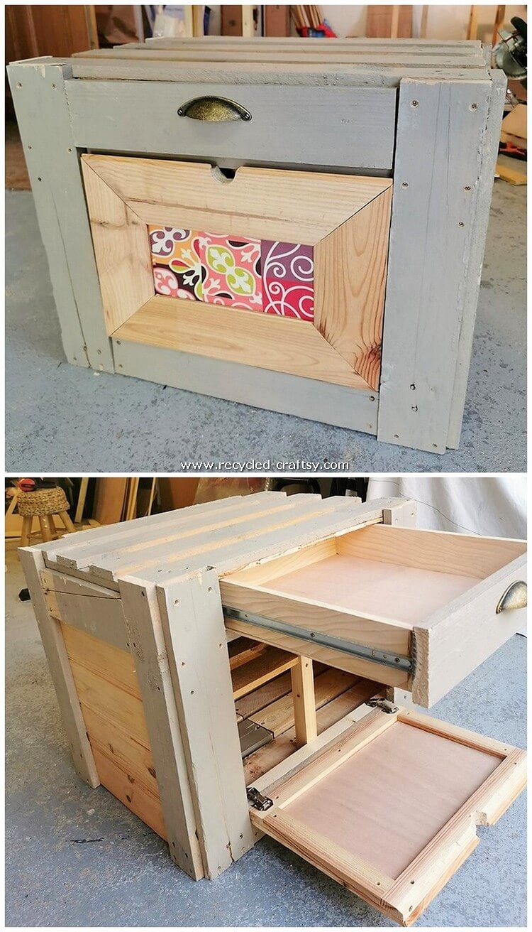 Pallet Storage Box with Drawer