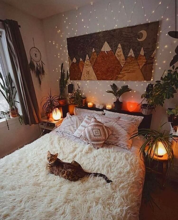 Bohemian Bedroom Decor (27)