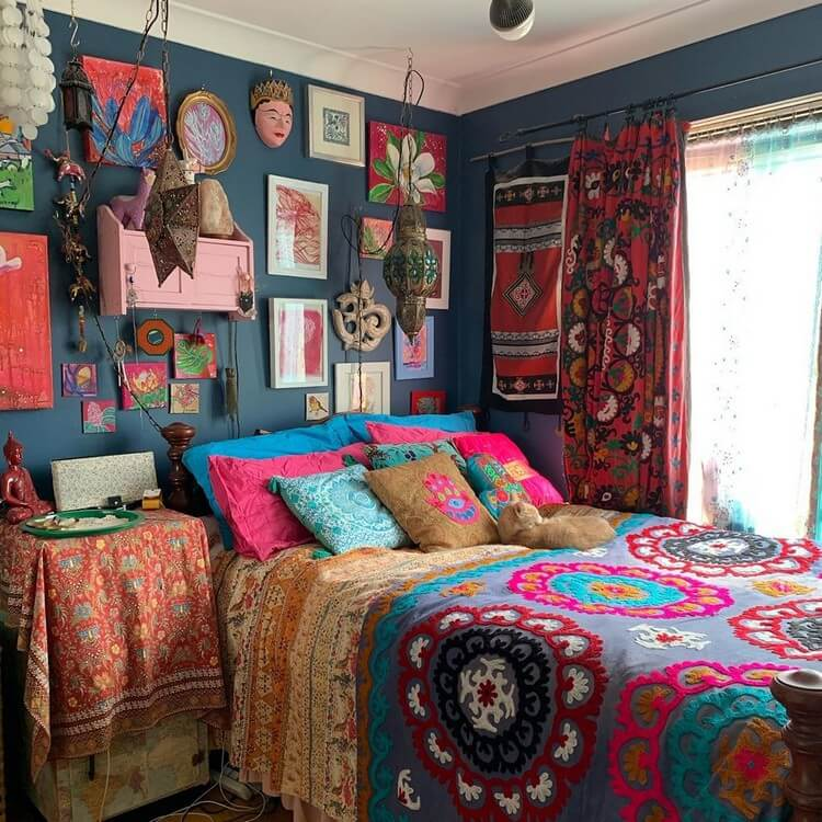 Bohemian Bedroom Decor (40)