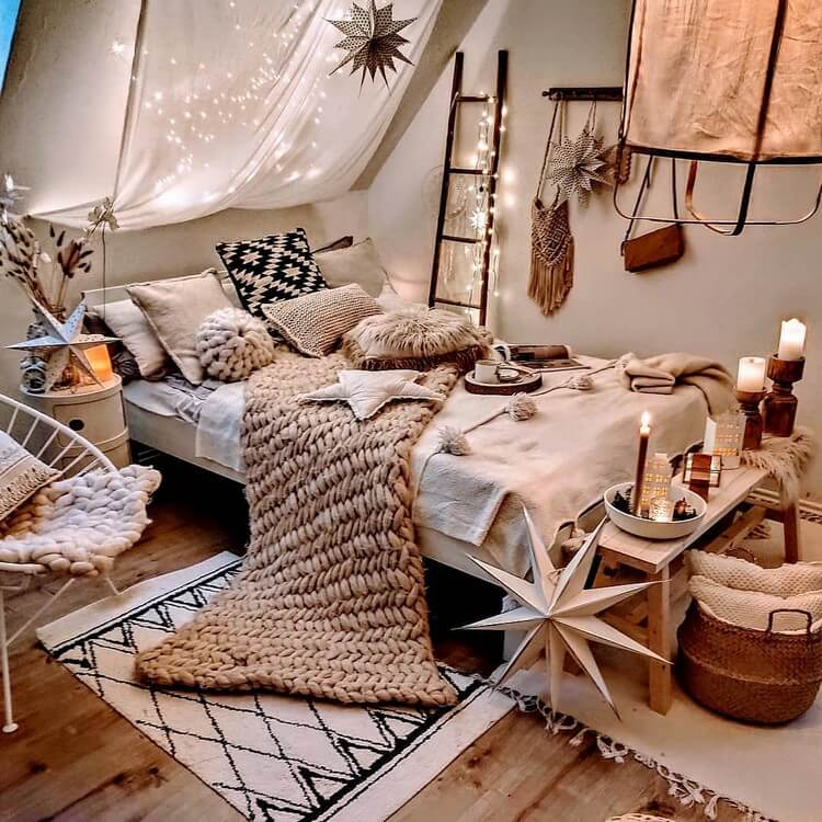 Bohemian Bedroom Decor (8)