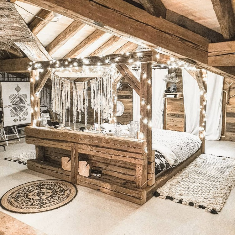 Bohemian Bedroom Decor Design (28)