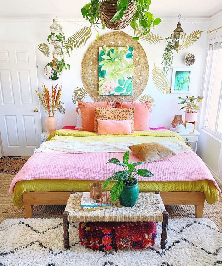 Bohemian Bedroom Decorating (14)