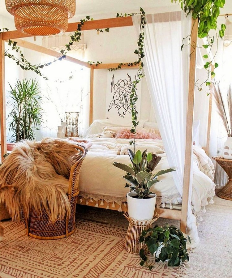 Bohemian Bedroom Decorating (15)