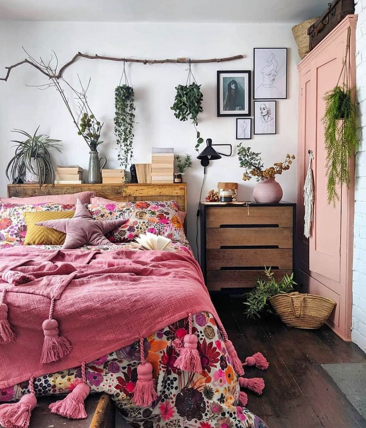 Bohemian Bedroom Decorating (20)