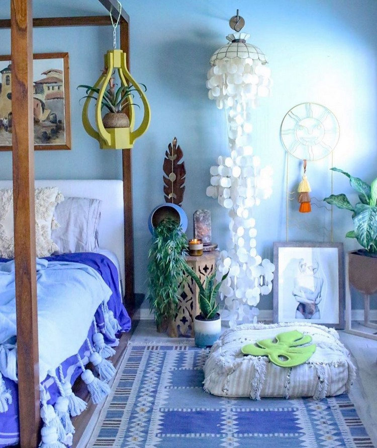Bohemian Bedroom Decorating (27)