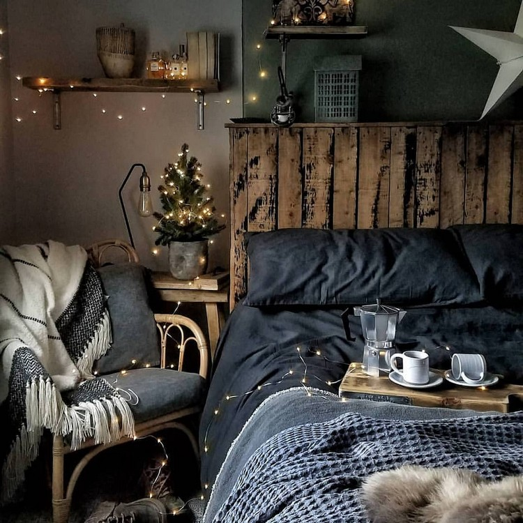 Bohemian Style Beautiful Bedroom Design (12)