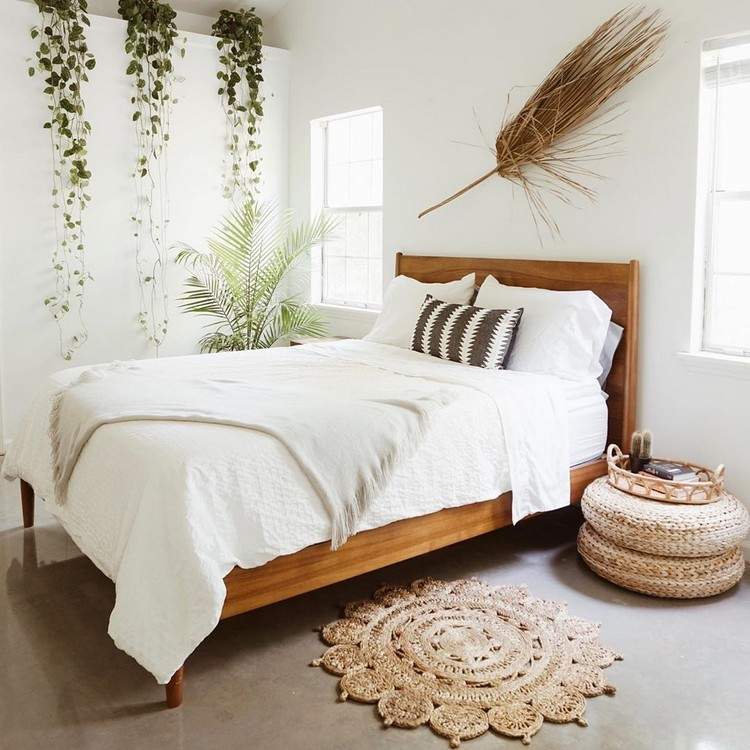 Bohemian Style Beautiful Bedroom Design (26)