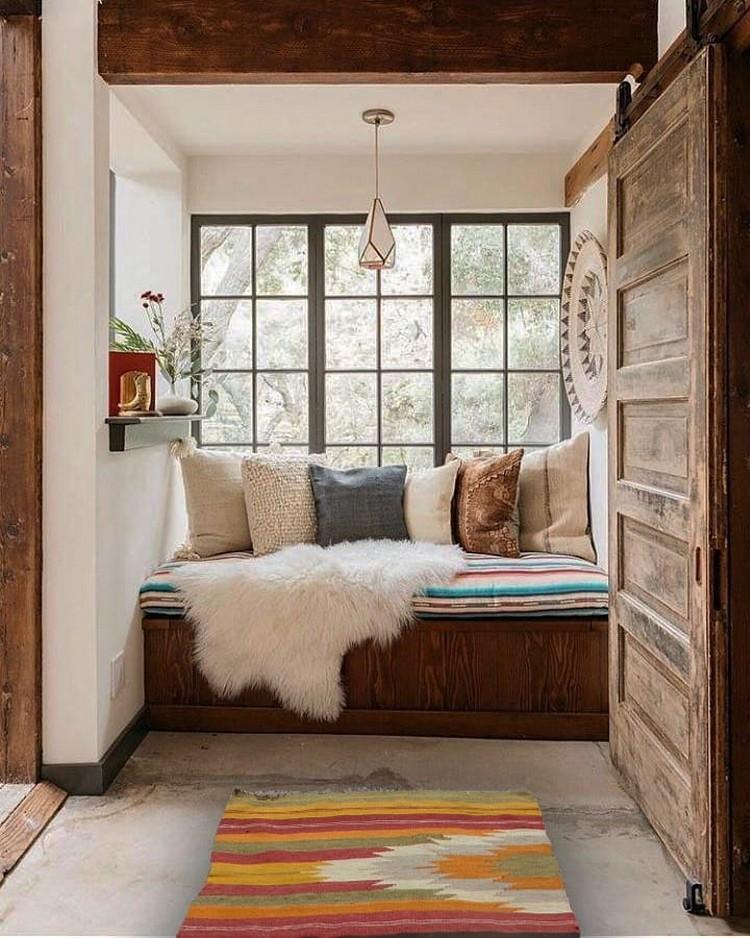 Elegant Bohemian Home Interior Decor Design (16)