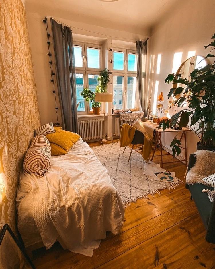Elegant Bohemian Home Interior Decor Design (39)