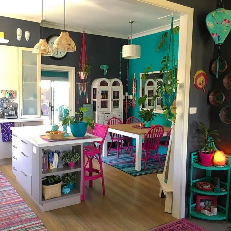 Elegant Bohemian Home Interior Decor Design (42)