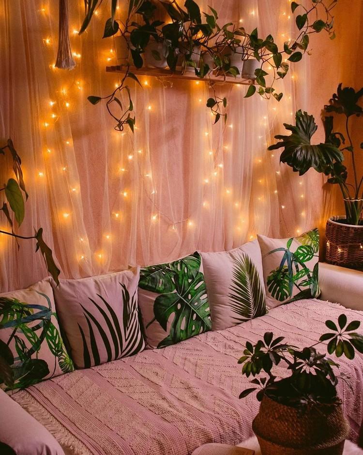 Elegant Bohemian Home Interior Decor Design (43)