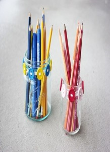 Amazing Designs of Pencil Holders with Recyclable Material