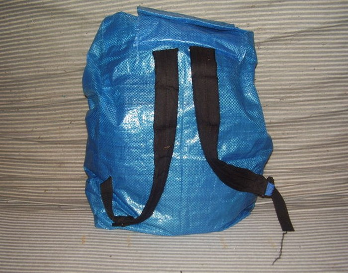 DIY Recycled Bag Backpack