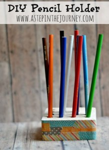 Recycled DIY Pencil Holder