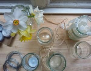 Recycled Jam Jars