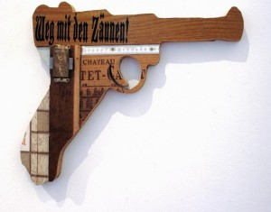 Recycled Material Into Fake Weapons