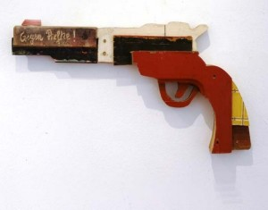 Recycled Wood Convert Fake Weapons